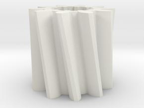 Helical gear Mn=4 Z=10 Pressure Angle=20° Beta=25° in White Natural Versatile Plastic