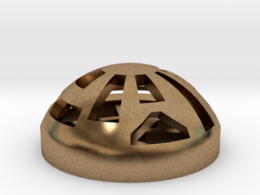 Button Dome in Natural Brass