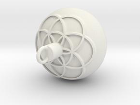 1 Pendulum 11mm - 0.25mm Flower 2mm Cut Emboss 0.5 in White Natural Versatile Plastic