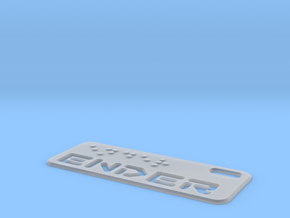 Ender Dogtag Large in Smooth Fine Detail Plastic