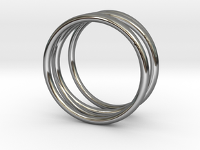 Finger Cage Ring - Sz. 9 in Fine Detail Polished Silver