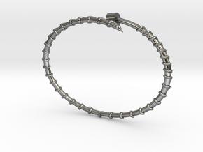 Dainty Screw Bracelet -Large in Premium Silver