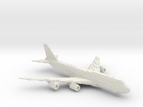[1:666] Minecraft Boeing 747-8i in White Natural Versatile Plastic