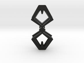 HEAD TO HEAD Duo, Pendant  in Black Natural Versatile Plastic
