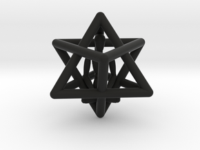 Merkaba Meditation Pendant in Black Natural Versatile Plastic