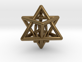 Merkaba Meditation Pendant in Natural Bronze