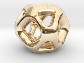 Geodesic Accent Sculpture in 14K Yellow Gold