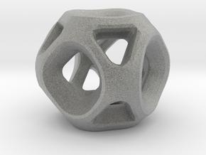 Geodesic Accent Sculpture in Metallic Plastic