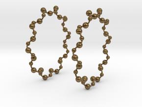 Molecule Big Hoop Earrings 60mm in Natural Bronze
