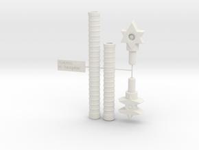 5mm - 8mm Gestalt: Adaptor Handle  in White Natural Versatile Plastic