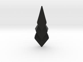 Hidden Hearts 101 ,pendant in Black Natural Versatile Plastic