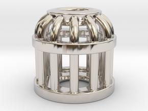 Birdcage Bead 2 (All Materials) in Platinum
