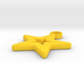 Pendant starlet in Yellow Processed Versatile Plastic