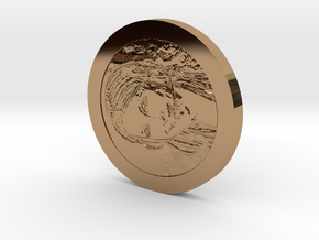 Sheever Tidehunter Coin in Polished Brass