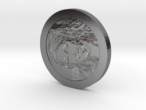 Sheever Tidehunter Coin in Polished Silver