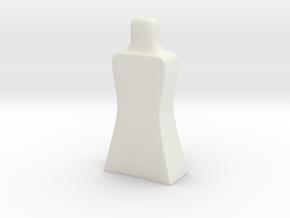 GamePiece in White Natural Versatile Plastic