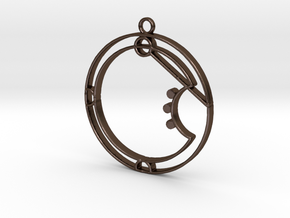 Aria - Necklace in Polished Bronze Steel