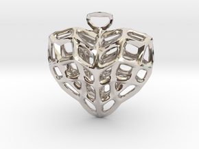 Heart Charm Necklace in Platinum