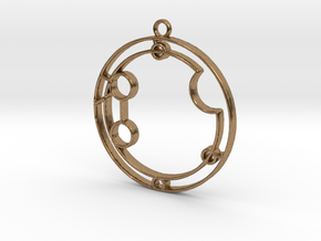 Autumn - Necklace in Natural Brass
