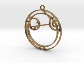 Angela - Necklace in Natural Brass