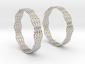 Wired Beauty 2 Hoop Earrings 50mm in Platinum