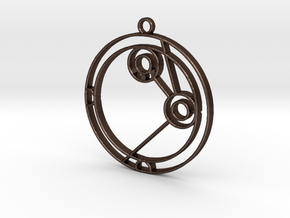 Amelia - Necklace in Matte Bronze Steel