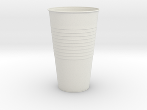 Mini Plastic Cup in White Natural Versatile Plastic