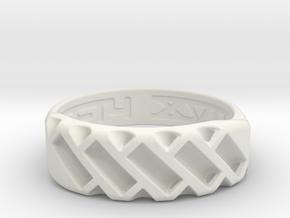US14 Ring XVII: Tritium in White Natural Versatile Plastic