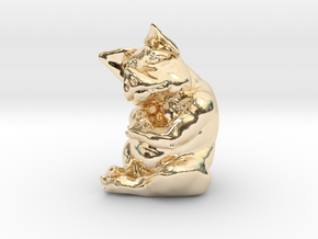 Piggy 3 Inches Tall in 14K Yellow Gold