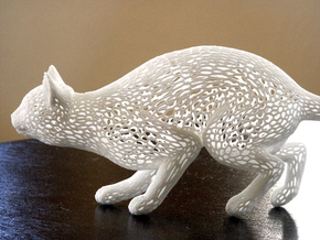 Hunting Cat in White Strong & Flexible