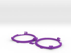 68.5mm Lens Separators | Oculus Rift DK2 in Purple Processed Versatile Plastic
