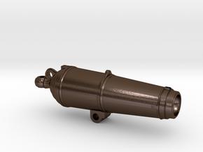 English 18 pdr carronade barrel 1:48 scale in Polished Bronze Steel