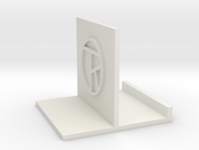 Stand, Small White with artist's initials in White Natural Versatile Plastic