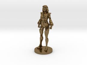 Carly homage Space Woman 1.89inch Transformers Min in Polished Bronze