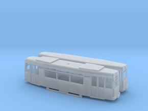 T57+Beiwagen Offene Fenster in Smooth Fine Detail Plastic