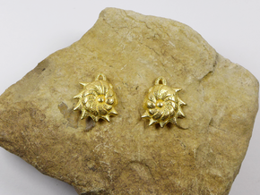 Cristellaria earrings in Polished Gold Steel