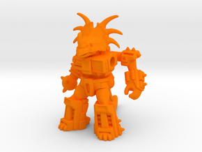Stalwart Styracosaur in Orange Processed Versatile Plastic