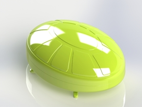 Turtle Box in White Natural Versatile Plastic