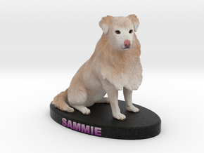 Custom Dog Figurine - Sammie in Full Color Sandstone