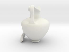 Broken Oenochoe Aquarium Ornament in White Natural Versatile Plastic