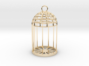 Christmas LED Tealight Lamp in 14K Yellow Gold