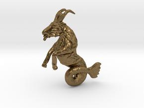 Capricorn Pendant - 2.6cm in Natural Bronze