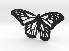 Monarch Statue in Black Acrylic