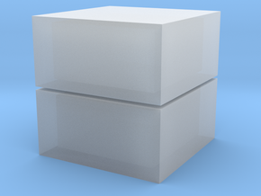 Cubic 1x1x2 4cm in Smooth Fine Detail Plastic