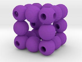 Dice2 in Purple Processed Versatile Plastic