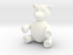 "BIG (3"") Teddy Bear! in White Processed Versatile Plastic"