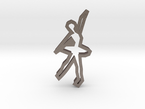 Ballerina 71 Cookie Cutter in Polished Bronzed Silver Steel