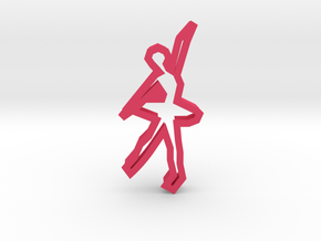 Ballerina 71 Cookie Cutter in Pink Processed Versatile Plastic