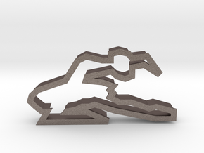Ballerina 90 Cookie Cutter in Polished Bronzed Silver Steel
