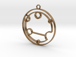 Evelyn - Necklace in Natural Brass